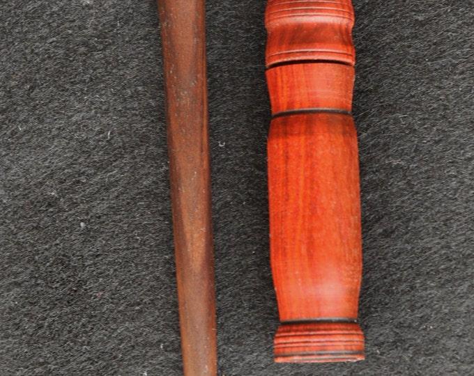 Hand made walnut lay tool & red heart wood needle case set  sku114A2017