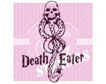 "Harry P Death Eater Snake Tattoo 5.5 x 5.5"" Cookie Stencil"