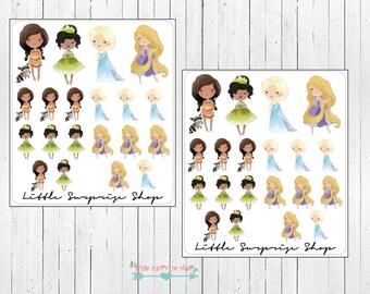 Kawaii Princess #2 Stickers // KC015