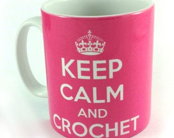 Keep Calm and Crochet 11oz gift mug cup present