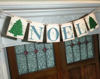 Christmas Banner, Noel Banner, Noel Sign, Rustic Christmas Decoration, Christmas Decor, Holiday Photo Prop