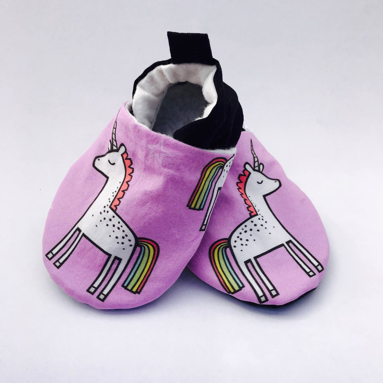 Purple Unicorn Baby Shoes Rainbow Baby Booties Baby Girl