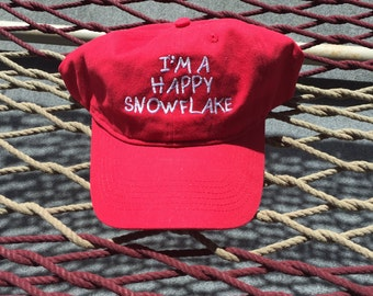 I'm a Happy Snowflake - Red Hat With White Letters