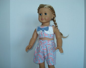 American Girl Watermelon Shorts Outfit