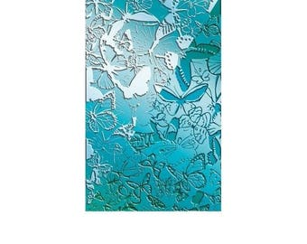 Butterfly texture plate to paste FIMO SCULPEY CERNIT - Butterflies texture sheet for polymer clay