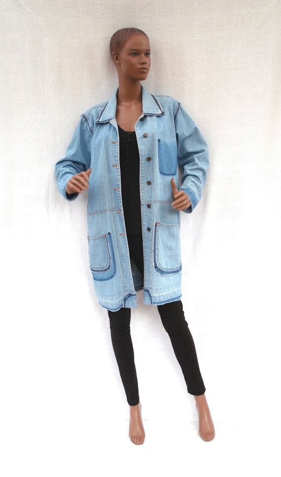 denim vintage veste en jean customis e veste boh me veste. Black Bedroom Furniture Sets. Home Design Ideas