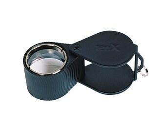 18 MM - 10X Triplet Diamond Cut Black Eye Loupe Jewelry Making Metal Inspection Magnifier Tool - ELP-745.01