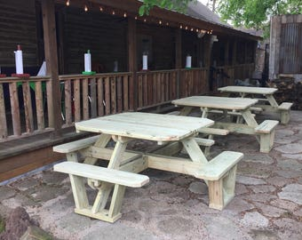 Large Square picnic table/ Houston, TX outdoor furniture
