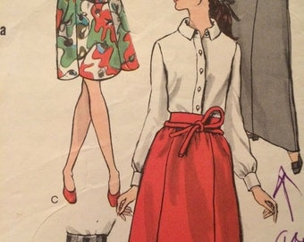 Nice Vogue Pattern for a Variety of Unique Skirts---Vogue 7376---Maxi Skirt, Corded Hem, and Scalloped Hem