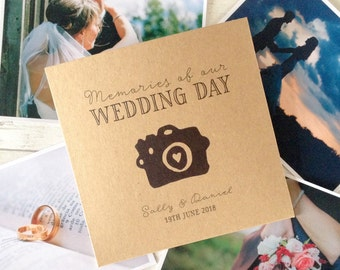 1x personalised 'Camera' CD DVD cover / sleeve for wedding photos video