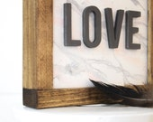Marbled Love | DIY Pocket Frame Insert Kit | Frame Not Included