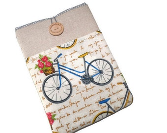 """Kindle cover, kindle paperwhite Sleeve, Nook Simple Touch case, Kindle Fire HD 7"""", Kobo Glo HD case,  Kobo Aura H2O sleeve, Bicycle, pocket"""