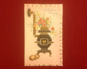 Vintage  Birthday card ( Unused )