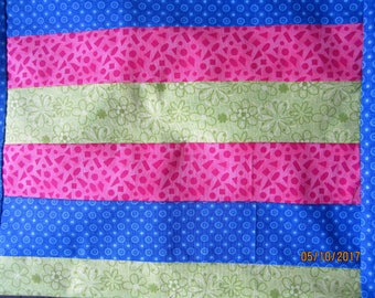 Bright Colored Pillows 12x 12 Pink,blue and lime