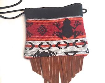 Tribal & Boho Handmade Crossbody Bag/ Leather bag