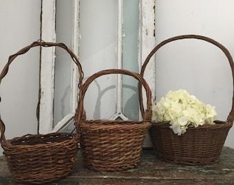 Easter Basket Set of 3 Farmhouse Decor