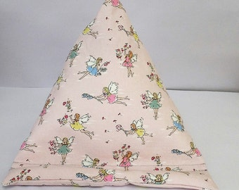 Tablet bean bag stand. ipad, kindle, tablet. Cath Kidston Fairies cotton fabric. 2 size options.