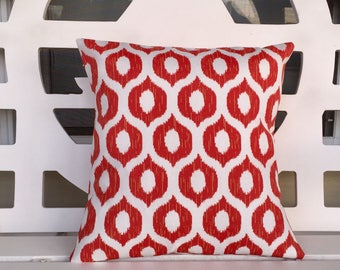 On Sale!  Red/Orange Pillow Cover 16 X 16