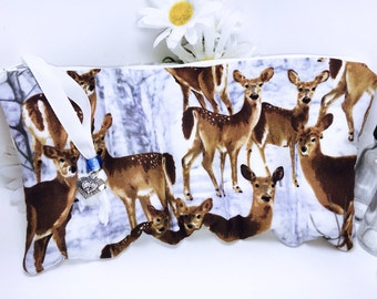 Deer Essential Oil Case, Young Living Oil Pouch, 5 Slot Essential Oil Bag, Essential Oil Storage, Doterra Oil Carrier