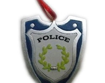 Police Badge Holiday Ornament