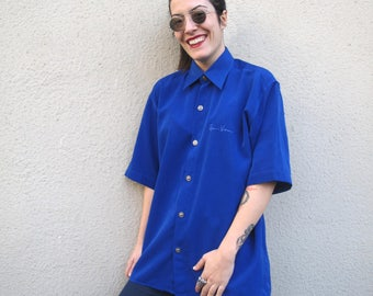 One of a kind GIANNI VERSACE silk shirt - Medusa buttons - Unisex
