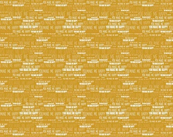 SALE!! 1 Yard When Skies are Grey by Simple Simon and Co. for Riley Blake Designs - 5606 Skies Words Gold