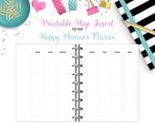 LAST CHANCE: Undated Weekly View 2-Page Calendar Spread - Printable Page Inserts for your Happy Planner Classic - Instant Download