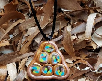 Polymer Clay Tri-Cane Necklace