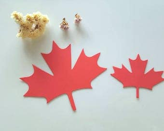 Maple leaf cut outs (F) Canadian leaf, Canadian Maple leaf,Large paper leaves,Autumn decor,Fall wedding decor, Leaf wish tags Autumn Wedding