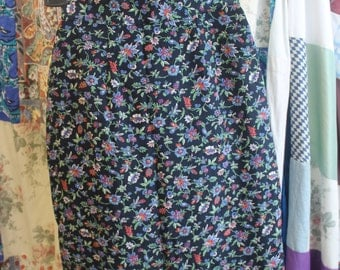 Lined Floral Pencil Skirt size 10 REF 424