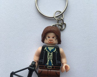 Daryl Dixon, The walking dead, twd ,minifigure keyring, keychain , fandom, comic con