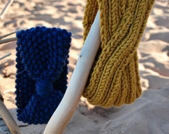 Tabitha Earwarmer   knitted headband      twisted earwarmer    Cute headband    Cozy ears