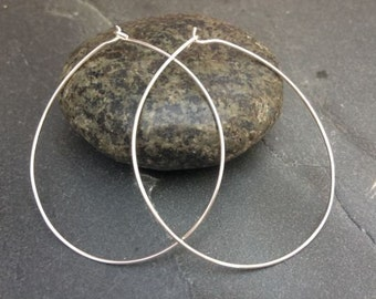 Sterling Silver Hoop Earrings Jewellery UK Womens Thin Hoops