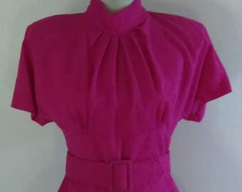Vintage  Bright Pink Diamond's Run Dress.
