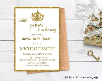 gold prince invitation baby shower gold royal baby shower a little prince is on