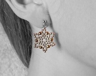 Safi Earrings - 14k gold-filled & 925 sterling silver beads