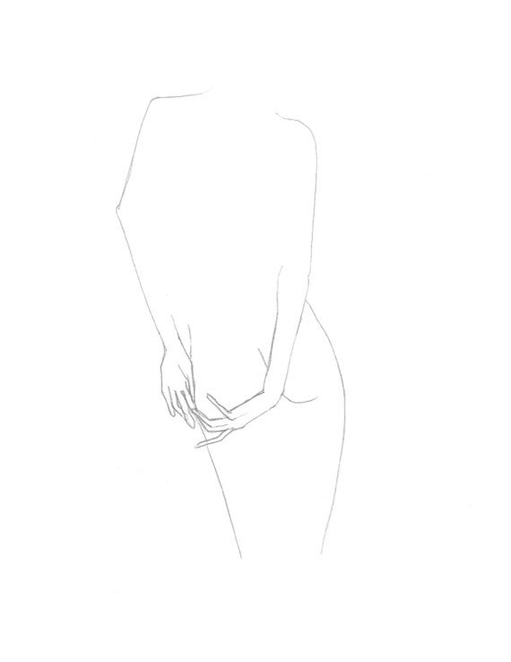 Line Drawing Female : Items similar to nude line drawings gestural female