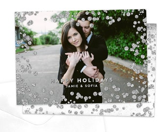 Diamond Christmas Photo Card / Digital Holiday Card / Diamond Photo Holiday Card / Custom Christmas Card / Printable Holiday Card
