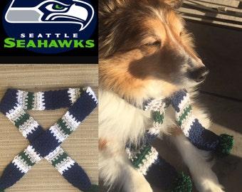 Seahawks Dog Scarf, Dog Costume, Seattle Seahawks Dog Scarf, Dog Gift, Seahawks, Dog Scarf, Dog Neckwear, Dog Lover Gift, Seahawks Football