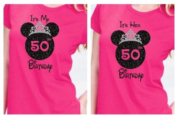 Items Similar To Disney Family Birthday Shirts 50th