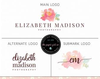 peony logo design beauty boutique logo makeup artist logo premade logo photography logo wedding planner logo event stylist logo jewelry logo