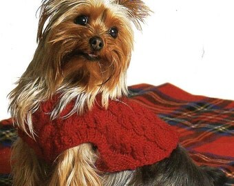 Dog Sweater Coat Knitting Pattern Knit Dog Cable Sweater Coat Knitting Pattern Small Med Large PDF Instant Download