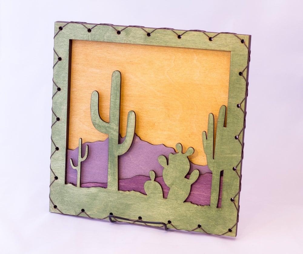 Southwest Art Southwest Decor Cactus Wall Hanging