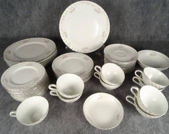 Gold Standard Genuine Porcelain China Pattern GST1 - 46 Pieces
