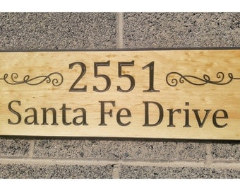 Wood Address Signs, Inset Letters, Carved Wood Signs, Carved Wood Signs, Custom Outdoor Signs,  Rustic Wood Signs, Wood Shop Signs,