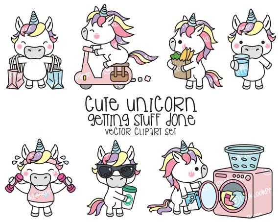 Premium Vector Clipart Kawaii Unicorn Cute Unicorn