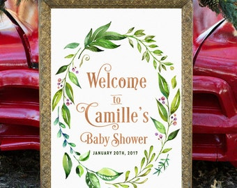 Perfect Boho Baby Shower Welcome Sign, Baby Shower Welcome Sign Printable, Bohemian  Baby Shower,