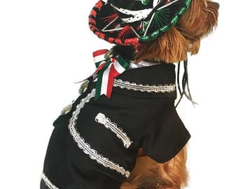 Mariachi Dog Costume/ Mariachi Outfit for dogs/ Mexican dog costume