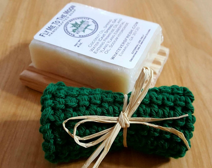 Handcrafted Soap Set - Soap, Soap Deck and Cotton Cloth