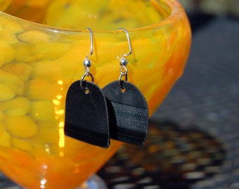 Earrings- vinyl record - upcycled
